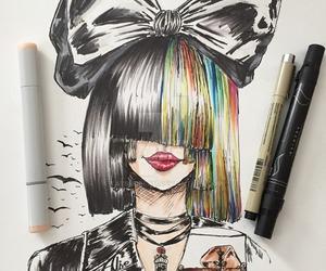 draw, sad, and ️sia image