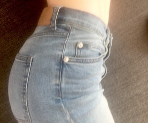 jeans, booty, and chill image
