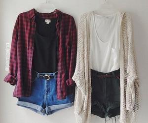 clothing, girl, and shorts image