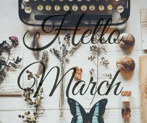 march and vintage image
