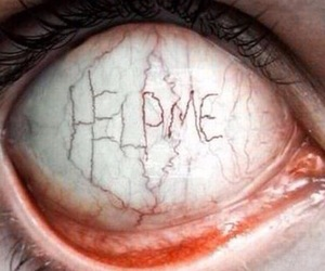 eye, help me, and help image