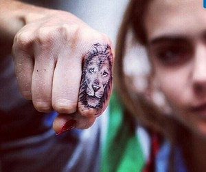 tattoo, cara delevingne, and lion image
