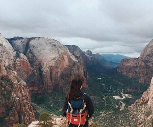 girl, adventure, and mountains image