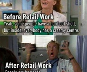 hate, shopping, and work image