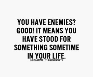 quote, enemies, and inspiration image