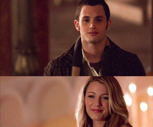 blake lively, dan humphrey, and gossip girl image