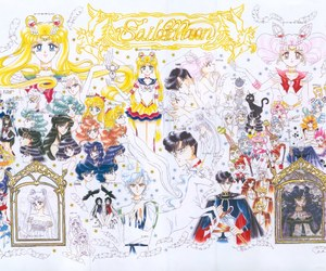 manga, sailor moon, and sailor senshi image