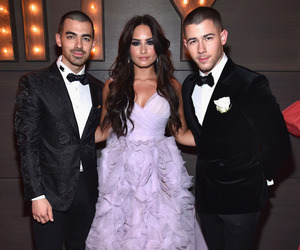 demi lovato, Joe Jonas, and nick jonas image