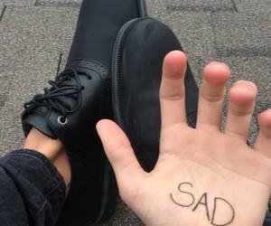 sad, black, and grunge image