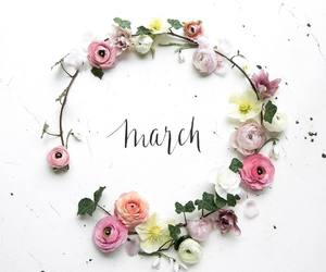 march, spring, and flowers image