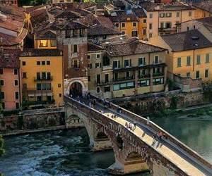 italy, travel, and verona image