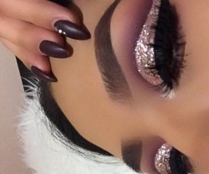 beauty, brows, and glitter image