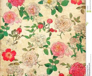 vintage, flowers, and pattern image