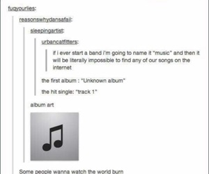 funny, tumblr, and music image