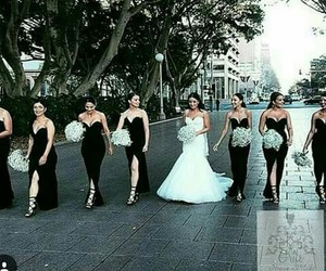 beautiful, bride, and friends image