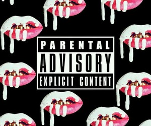 wallpaper, lips, and black image