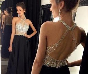 dress, Prom, and black image