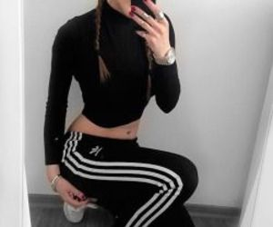 adidas, black, and outfit image