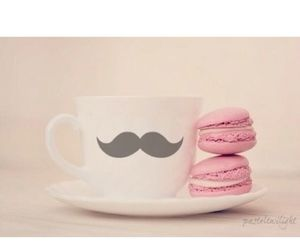 macaroons, moustache, and hot ​chocolate image