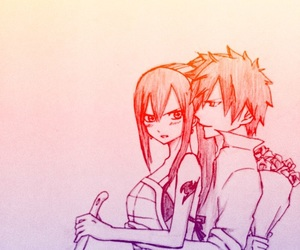 fairy tail, couple, and jerza image