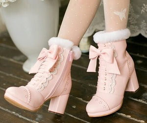 beautiful, boots, and bows image