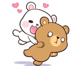 cute, love, and bear image
