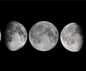 aesthetic, moon, and phases of the moon image