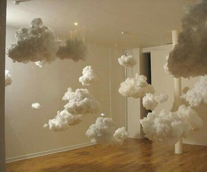 bedroom, clouds, and house image