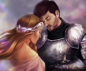 art, fantasy art, and lovers image