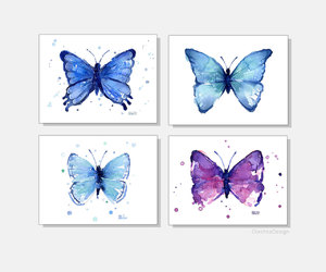 etsy, blue butterfly, and blue nursery image
