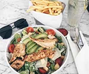 food, yummy, and salad image