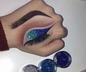 makeup, art, and blue image
