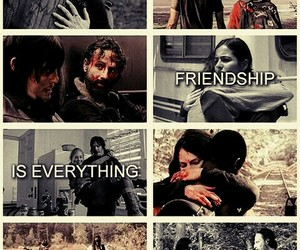 friendship, amc, and the walking dead image