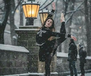 ballet, winter, and dance image