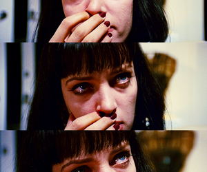 pulp fiction, cry, and sad image