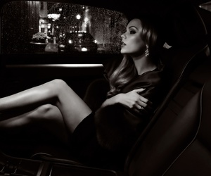 woman, car, and elegance image