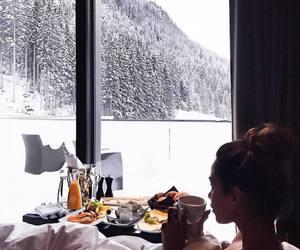 breakfast, luxury, and snow image