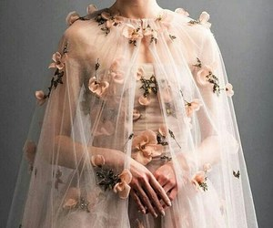 dress, flowers, and aesthetic image
