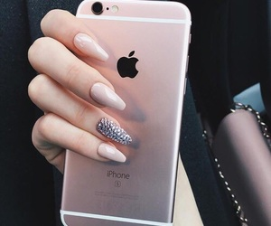 iphone, luxury, and nails image