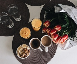 breakfast, healthy, and tulips image