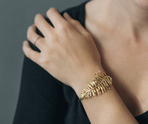bracelet, brass, and fern image