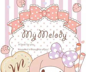 my melody, sanrio, and wallpaper image