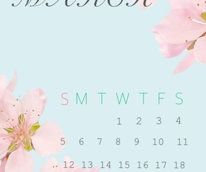 calendar, march, and spring image