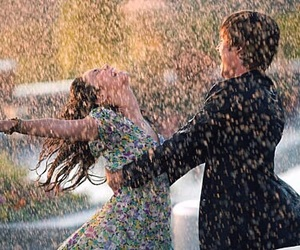love, rain, and couple image