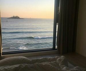 sea, ocean, and window image