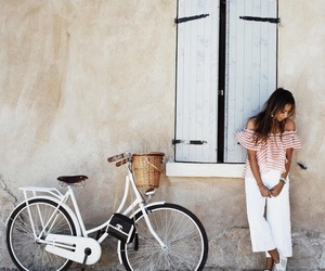 girl, bike, and style image