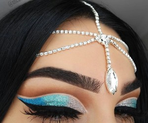 blue, glamour, and makeup image