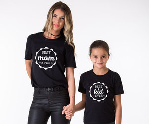 fashion, mommy and me, and matching tshirts image