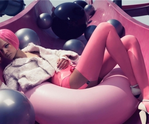 pink, fashion, and model image