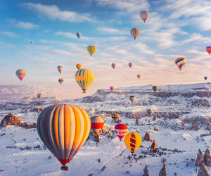 air balloon and cappadocia image
